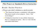 pilot project on standards driven instruction69