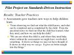 pilot project on standards driven instruction70