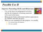 possible use ii
