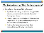 the importance of play to development12