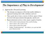 the importance of play to development13