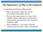 the importance of play to development15