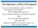 the importance of play to development16