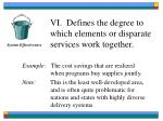 vi defines the degree to which elements or disparate services work together