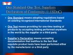 one standard one test suppliers declaration of conformity 1 1sdoc
