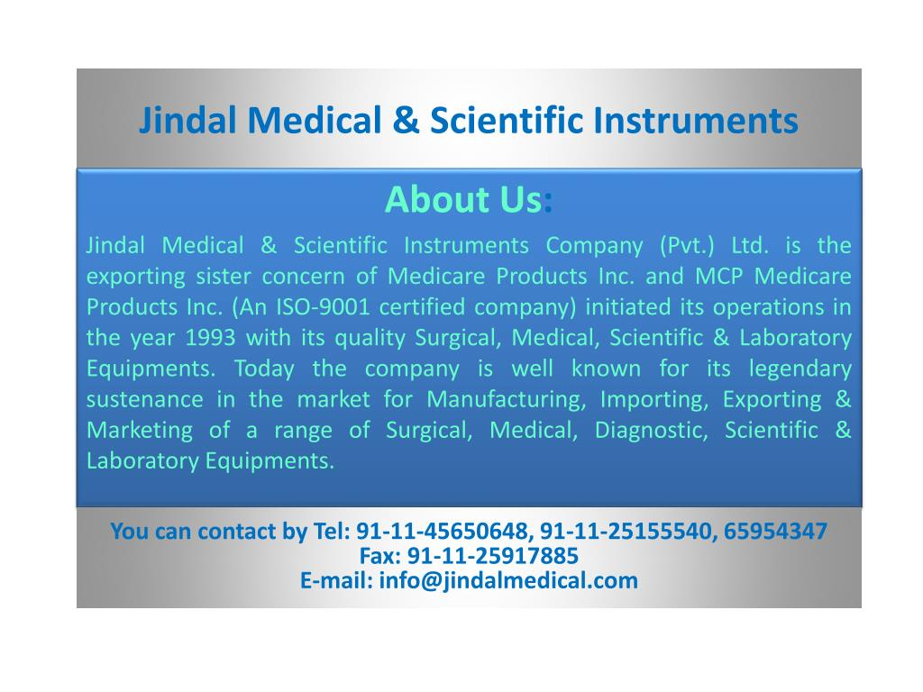 jindal medical scientific instruments l.
