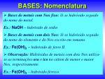 bases nomenclatura