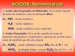 cidos nomenclatura