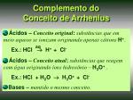 complemento do conceito de arrhenius