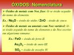 xidos nomenclatura