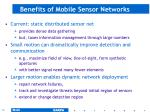 benefits of mobile sensor networks