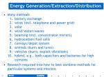 energy generation extraction distribution