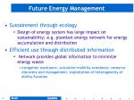 future energy management