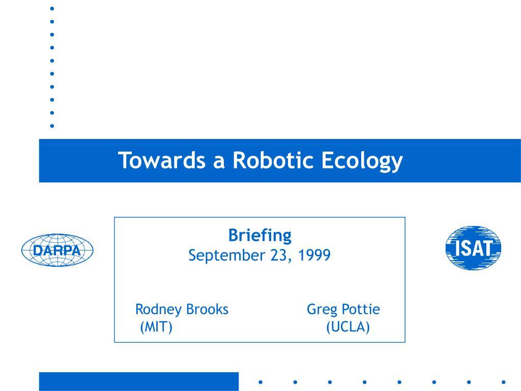 towards a robotic ecology l.