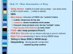 slide 18 other abnormalities of sleep