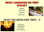 what language do they speak