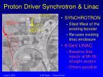 proton driver synchrotron linac