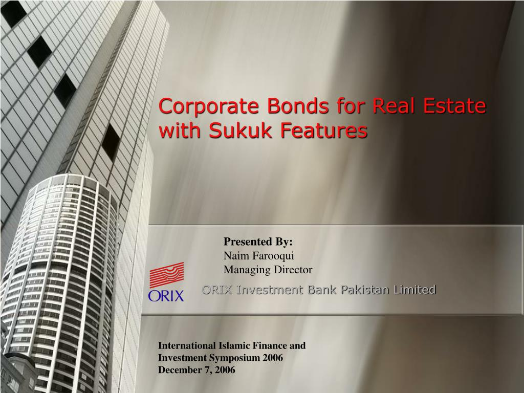 corporate bonds for real estate with sukuk features l.