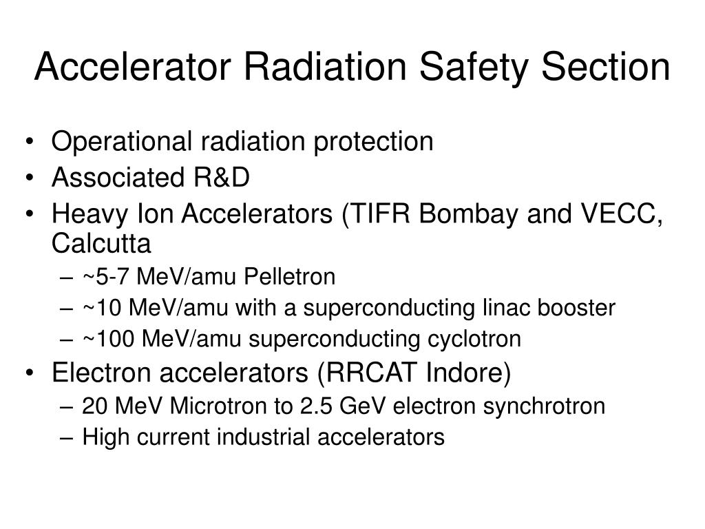 Accelerator Radiation Safety Section