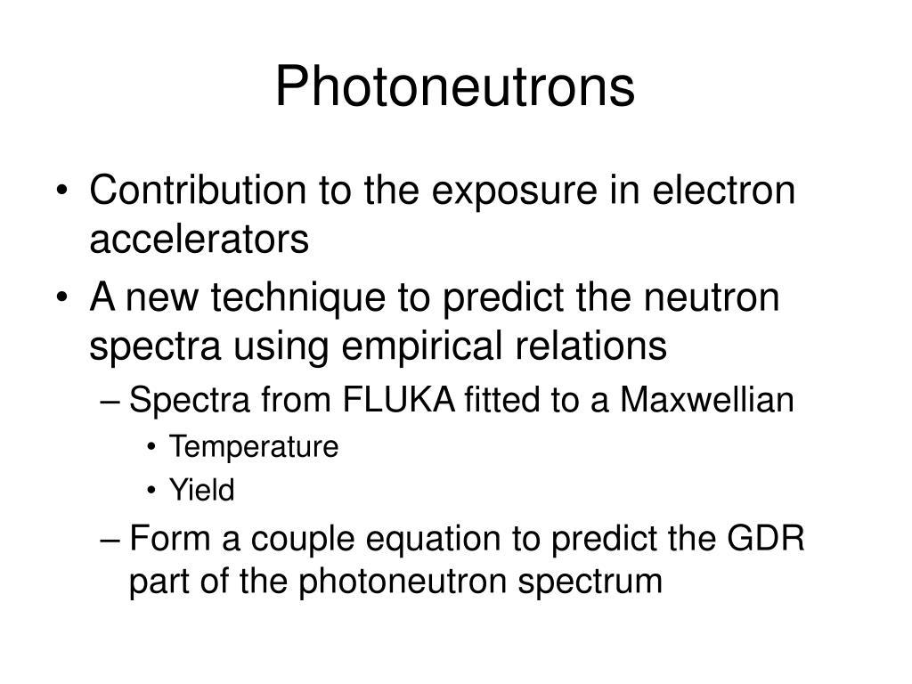 Photoneutrons