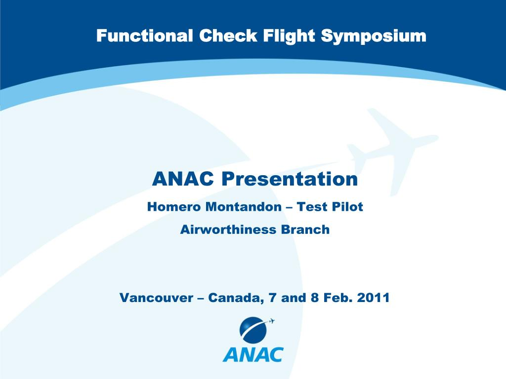 functional check flight symposium l.