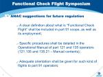 functional check flight symposium5