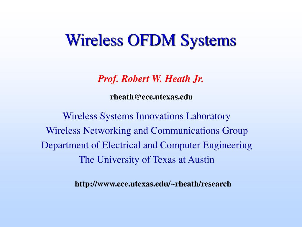 wireless ofdm systems l.