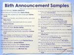birth announcement samples http www familybirthannouncements com wording cfm