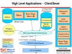 high level applications client sever