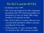 the elca and the ecusa