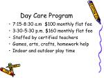 day care program