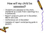 how will my child be assessed