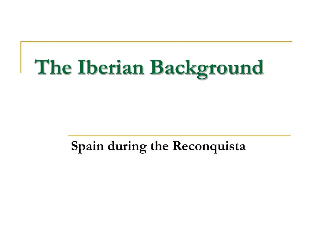 the iberian background l.