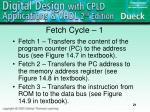 fetch cycle 1