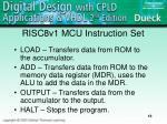 risc8v1 mcu instruction set