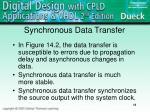 synchronous data transfer
