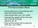 the accumulator block