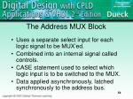 the address mux block