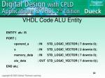 vhdl code alu entity