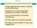 teacher s role in play and practice