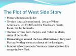 the plot of west side story