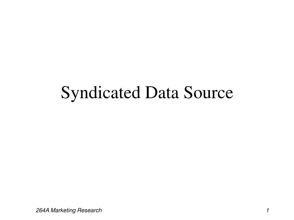 syndicated data source l.