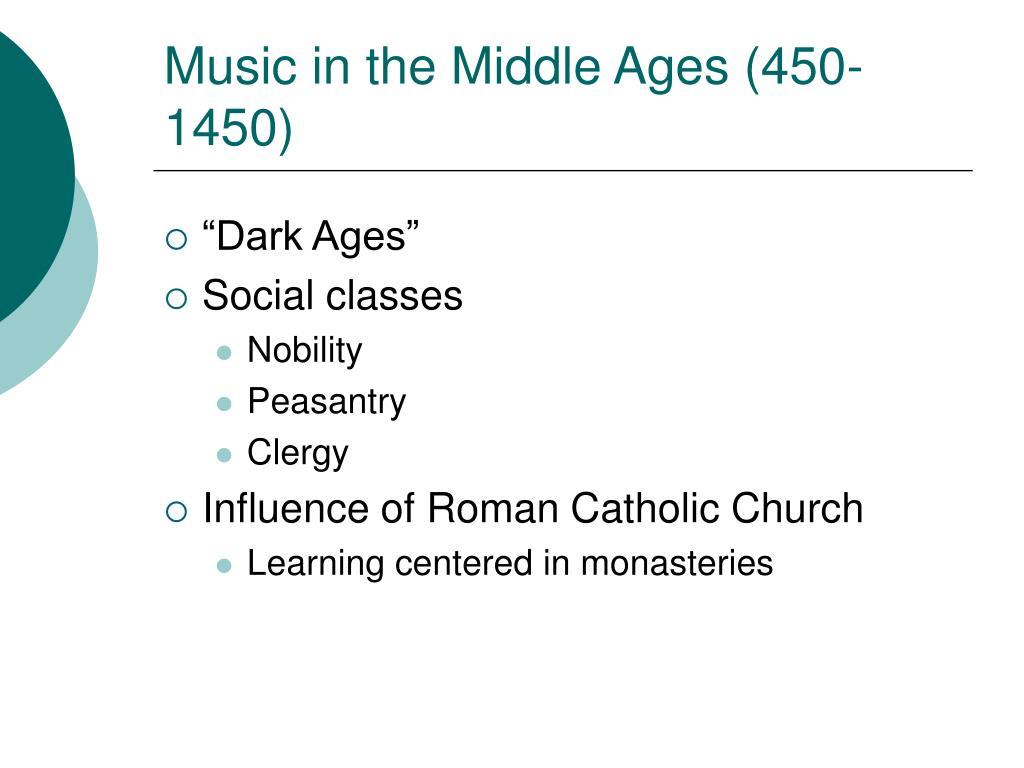 music in the middle ages 450 1450 l.