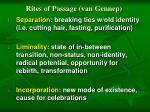 rites of passage van gennep