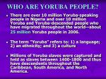 who are yoruba people
