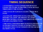 timing sequence