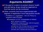 arguments against
