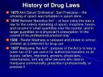 history of drug laws