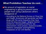 what prohibition teaches us cont