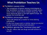 what prohibition teaches us